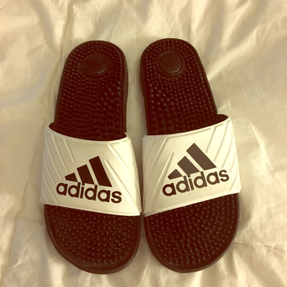 42422dfff43a adidas Shoes - White and black adidas slides
